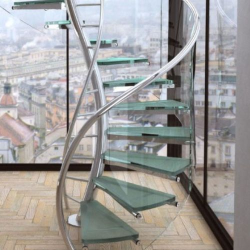 Architectural glass stair case