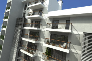 Architectural sketch of apartment