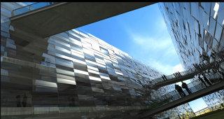 Modern building architecture artwork
