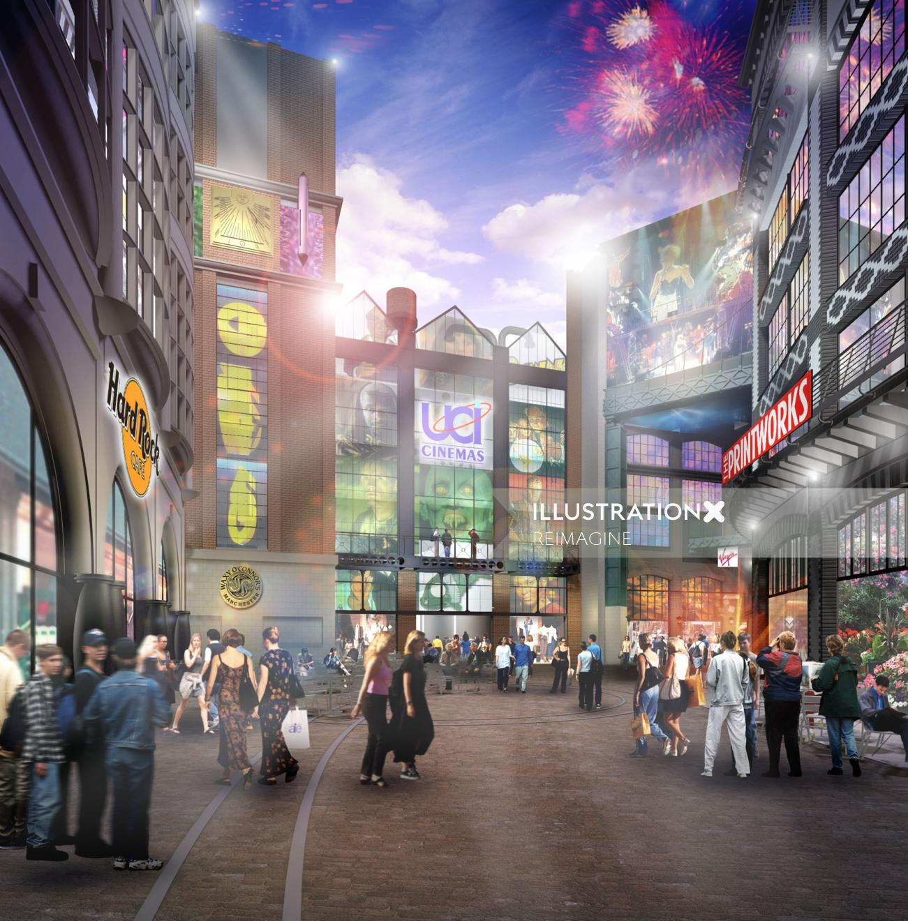 Architecture design of Shopping complex