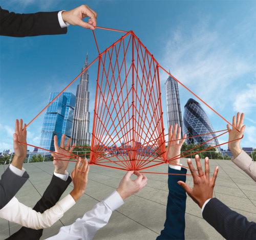 Building design using thread