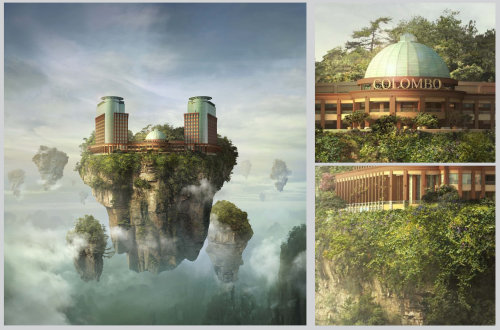 Fantasy Floating city