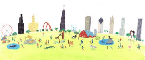 couleur de peinture des animaux marchent en ville