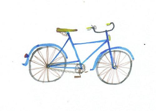 croquis d'un simple cycle bleu