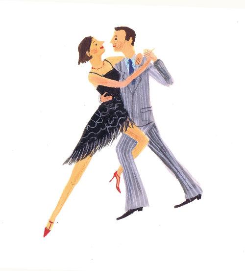 croquis d'un couple dansant