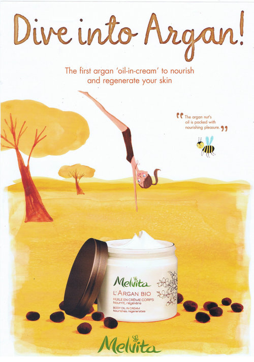 dive into argan poster for melvita