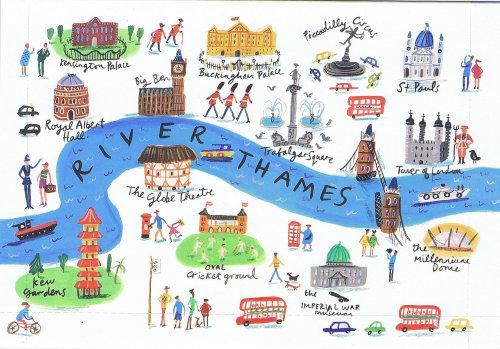 Vue aérienne de l'architecture de Londres illustration