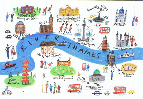 Aerial View Architecture of London illustration