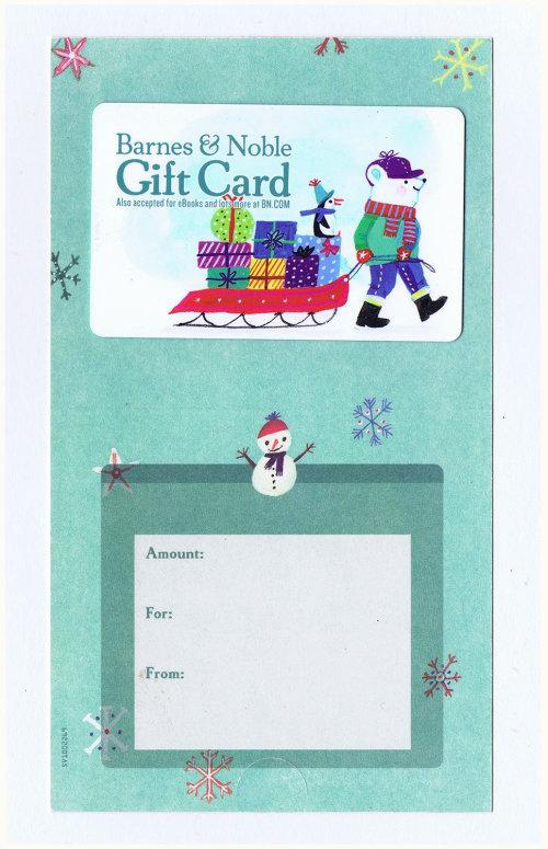 Illustration de la carte-cadeau de Noël pour Barnes & Noble