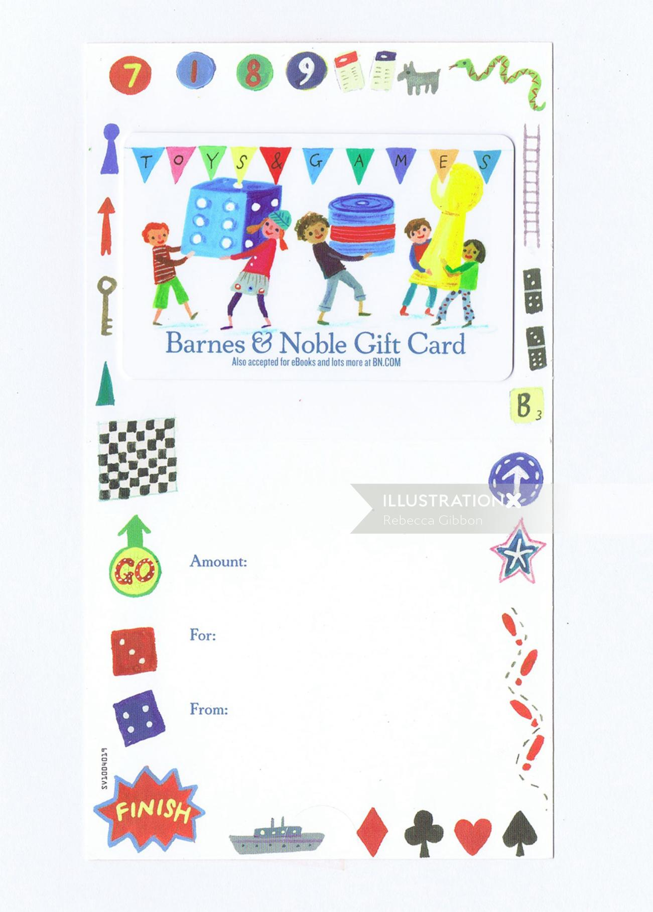 barnes and noble gift card design
