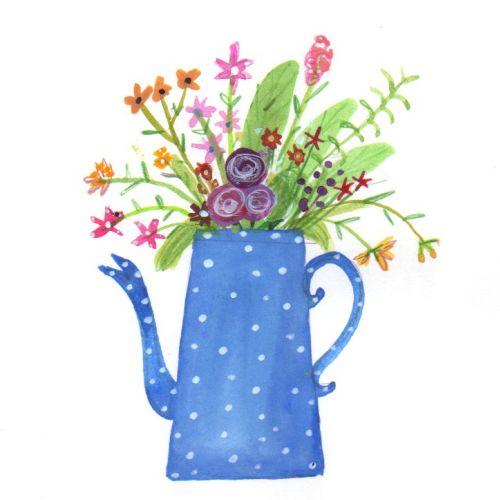 sketch of a flower vase
