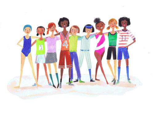 oeuvre de filles de diverses nations ensemble