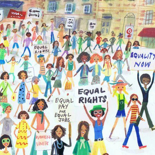 Illustration of people on street