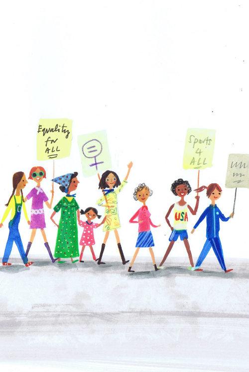 Children illustration equality for all