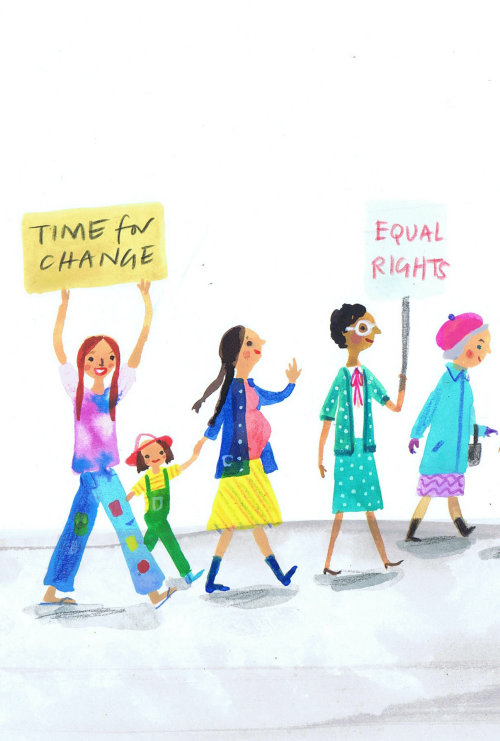 Children illustration time for change