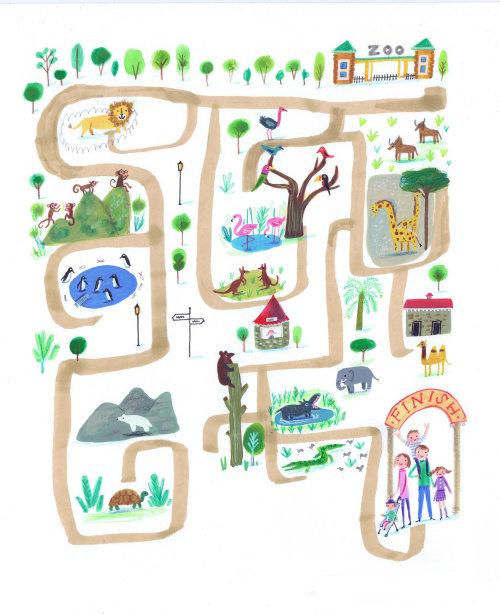 Travel park map