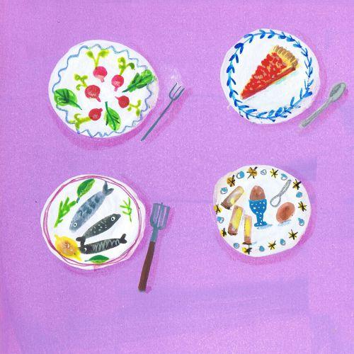 Food & Drink varities on plate