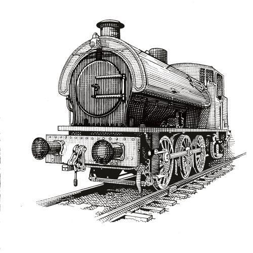 Train illustration by Richard Phipps