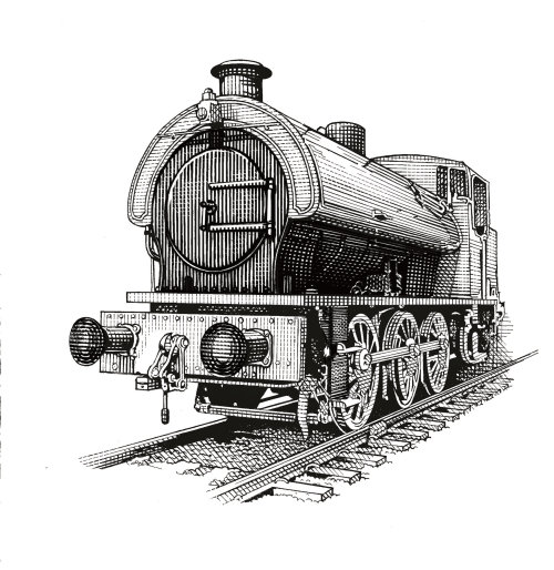 Train illustration by Richard Phipps