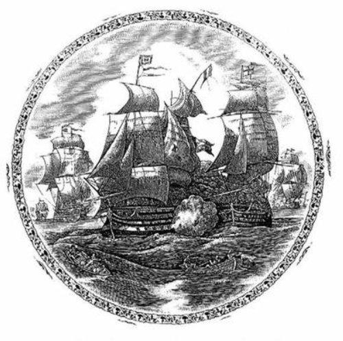 Ships black and white illustration