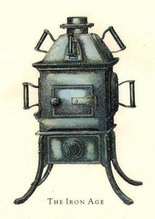 Illustration of boiler machine