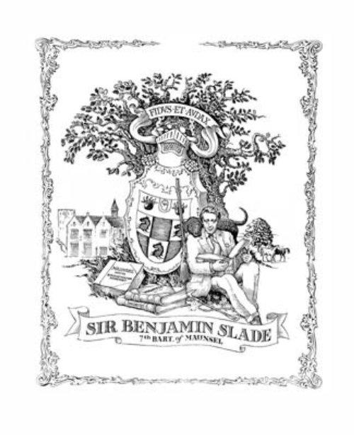 Black and white poster design of sir Benjamin slade