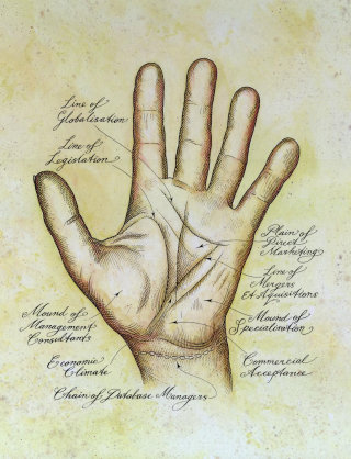 anatomy of male hand by illustration richard Phipps