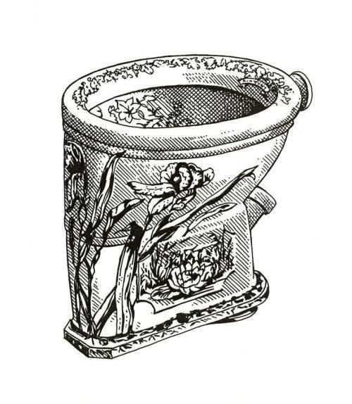 Wooden jar illustration