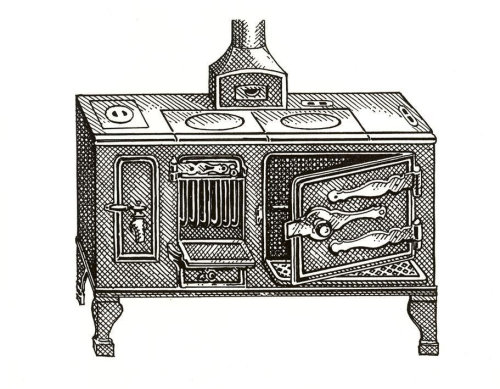 Sketch drawing of wooden table