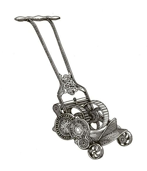 Baby stroller black and white illustration