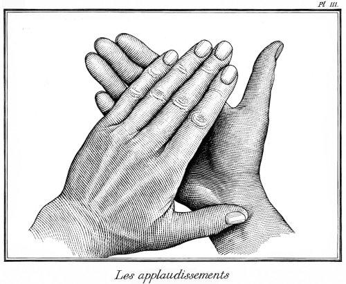 Illustration des mains applaudissant