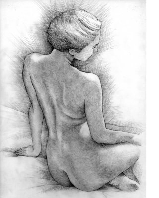 Naked women illustration  by Richard Phipps