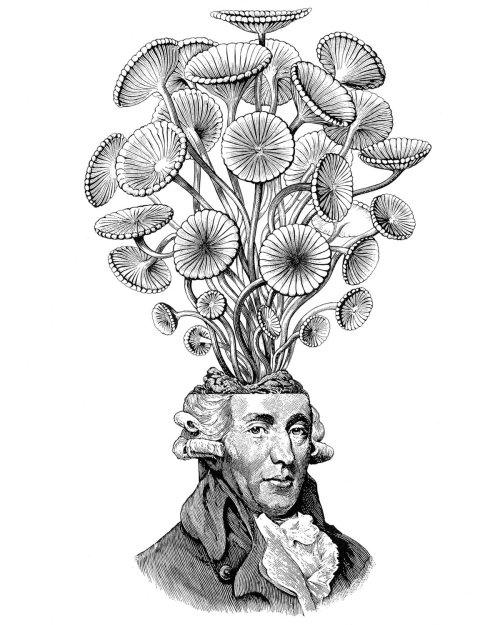 Man with bunch of flowers