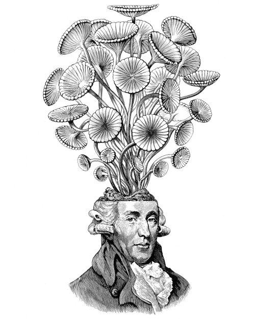 Homme avec bouquet de fleurs