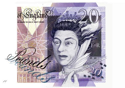 British pound bank note
