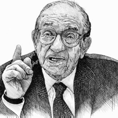 Alan Greenspan Black and white
