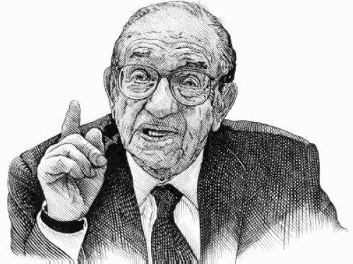 Alan Greenspan Black and white