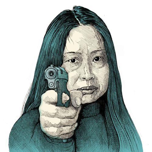 "Portrait of Xiao Lu for ""Le Monde"""