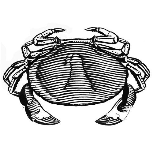line art of crab