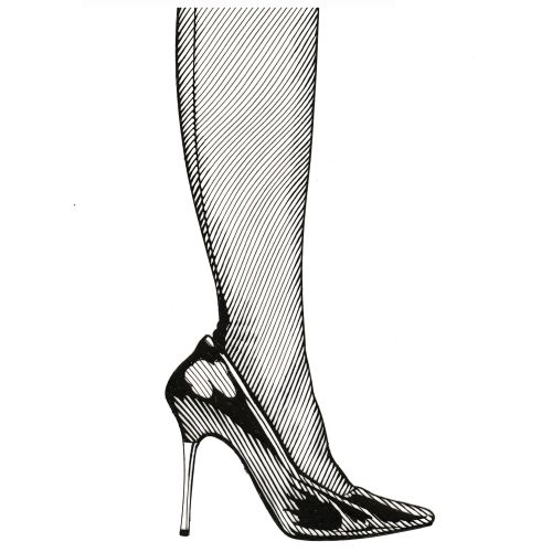 High heel graphic art