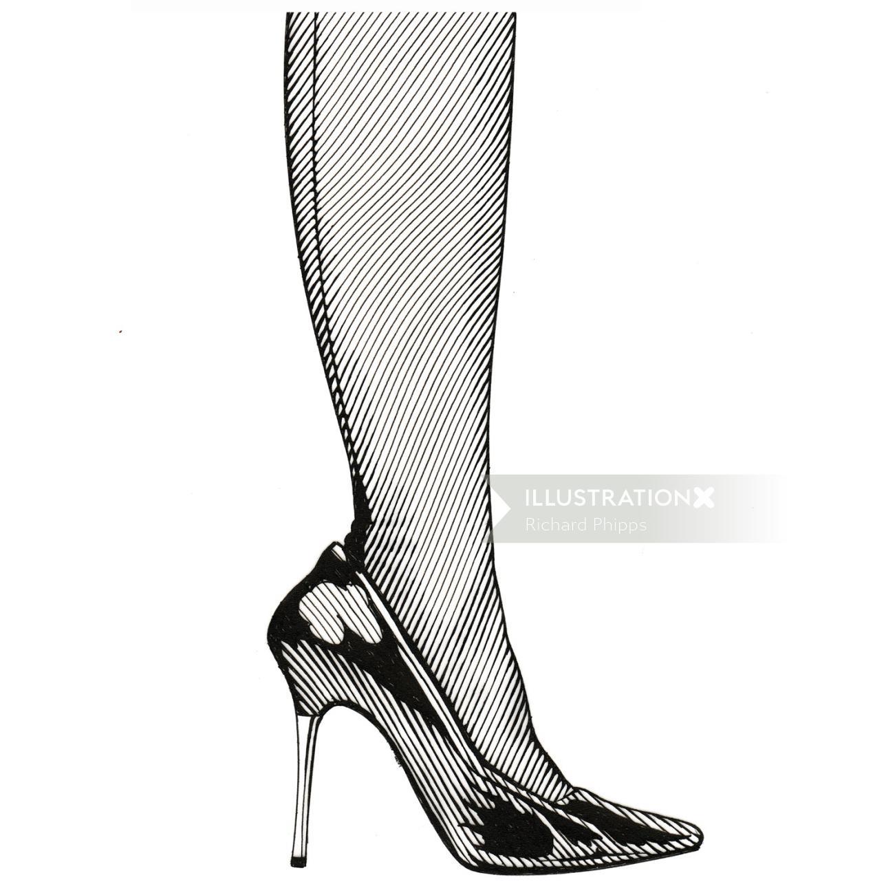 High heel graphic art