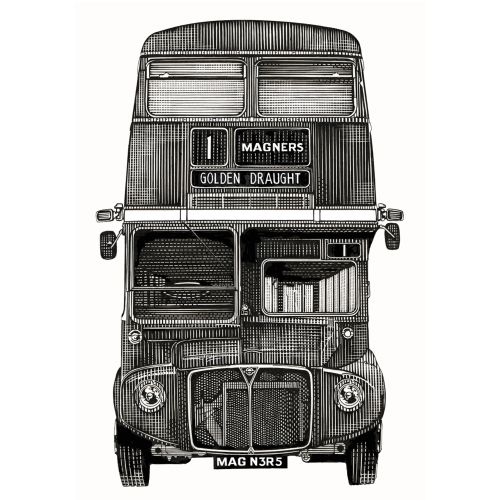 Magners Cider Routemaster retro graphic