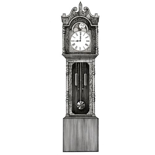 Graphic Grandfather clock