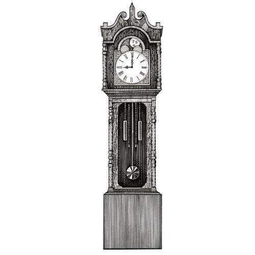 Graphic Grandfather clock