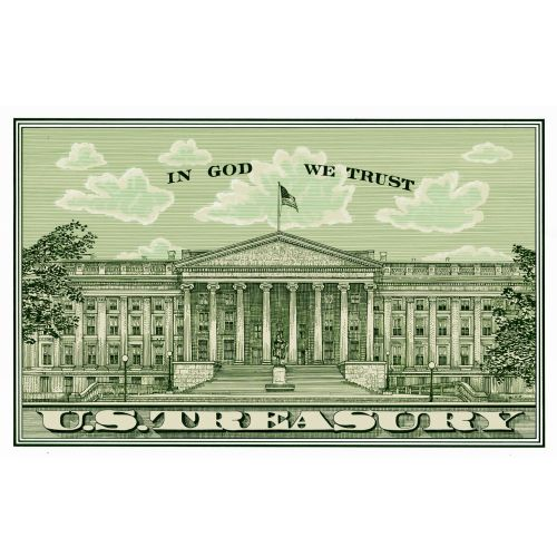 Illustration of US treasury postcard by Richard Phipps
