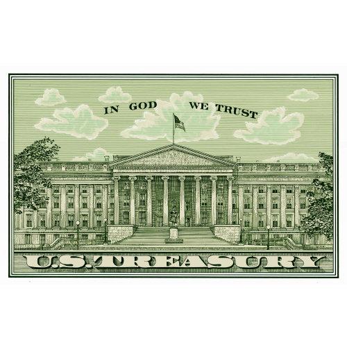 Illustration of US treasury postcard by Richard Phipps
