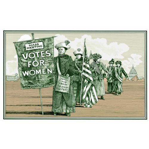 Suffragette postcard illustration by Richard Phipps