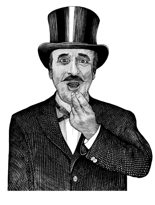 Black and white portrait of charlie chaplin