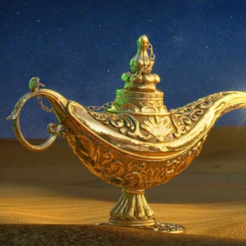 3d animation of Magic lamp