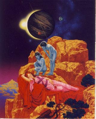 Art of Alien interaction on a planet far away
